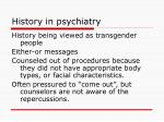 history in psychiatry