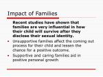 impact of families