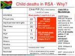 child deaths in rsa why