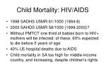 child mortality hiv aids