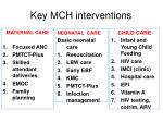 key mch interventions