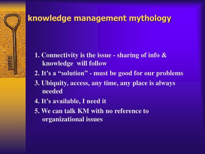knowledge management mythology