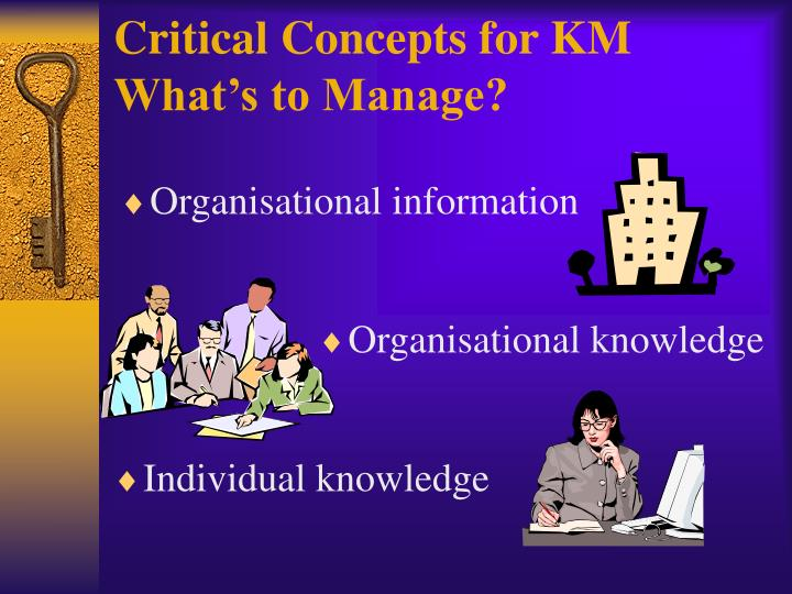 Critical Concepts for KM