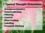 7 typical thought distortions
