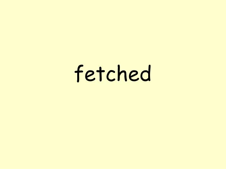 fetched