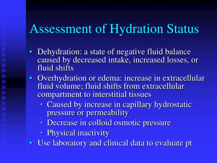 Assessment of Hydration Status