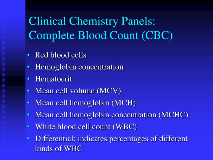 Clinical Chemistry Panels: