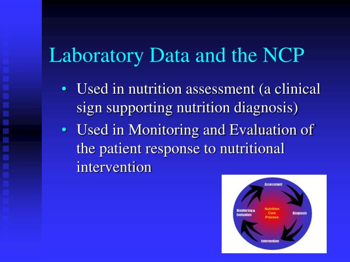 Laboratory data and the ncp