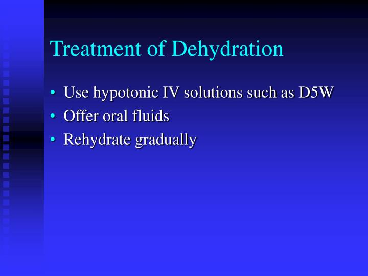 Treatment of Dehydration