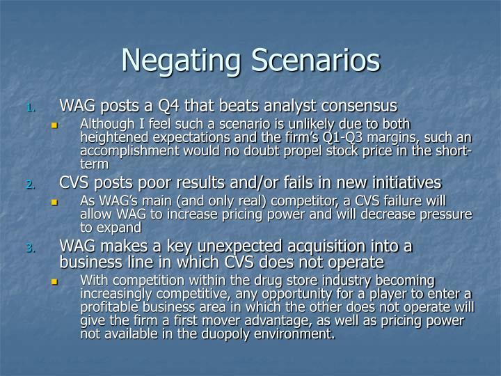 Negating Scenarios