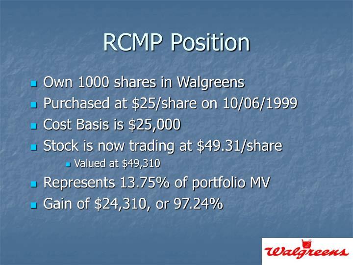 RCMP Position