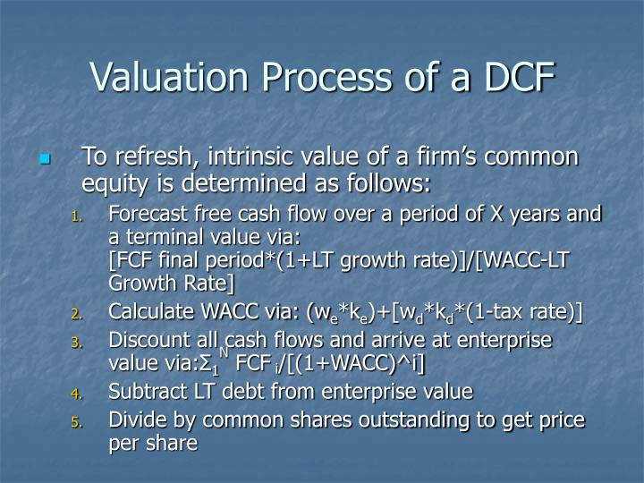 Valuation Process of a DCF