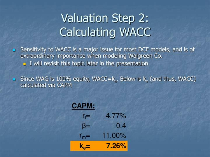 Valuation Step 2: