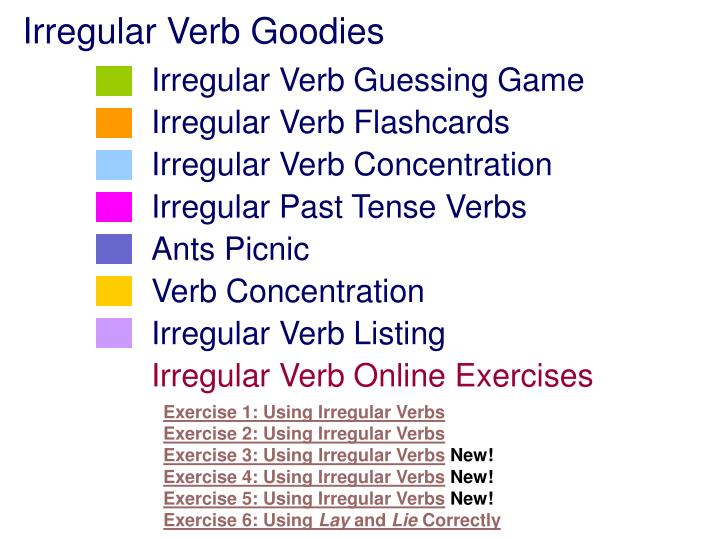 Irregular Verb Goodies