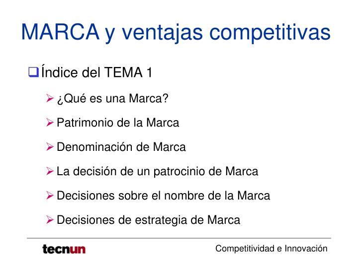 Marca y ventajas competitivas1