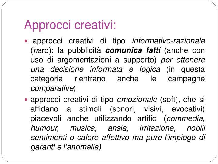 Approcci creativi: