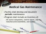 medical gas maintenance