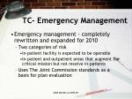 tc emergency management