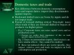 domestic taxes and trade