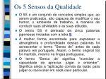 os 5 sensos da qualidade1