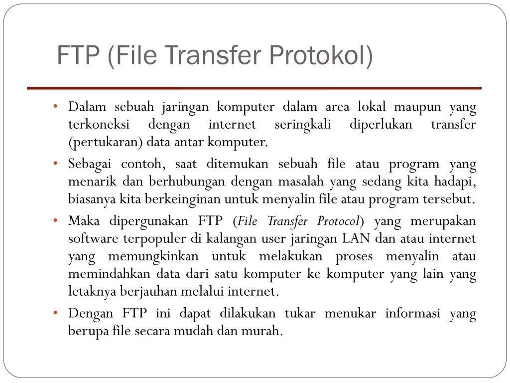 FTP (File Transfer Protokol)