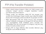 ftp file transfer protokol