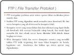 ftp file transfer protokol4