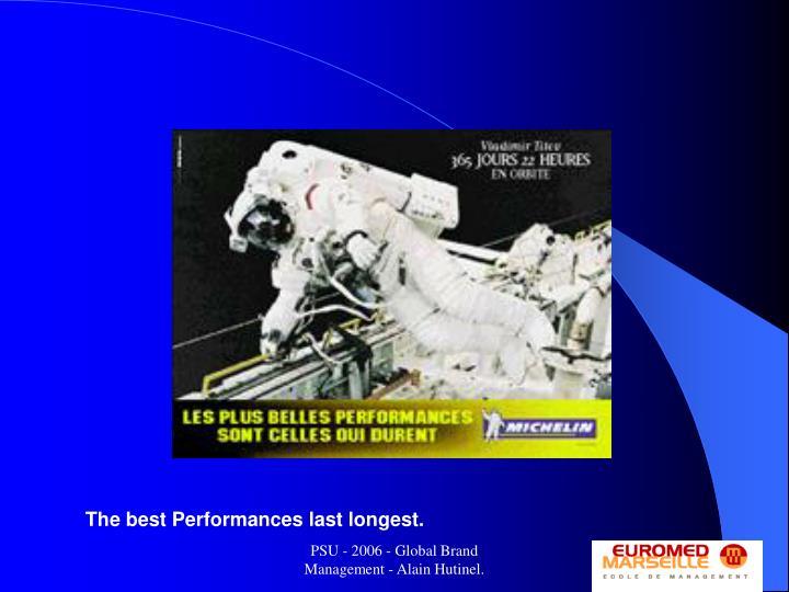 The best Performances last longest.