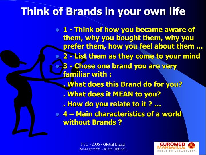 Think of Brands in your own life