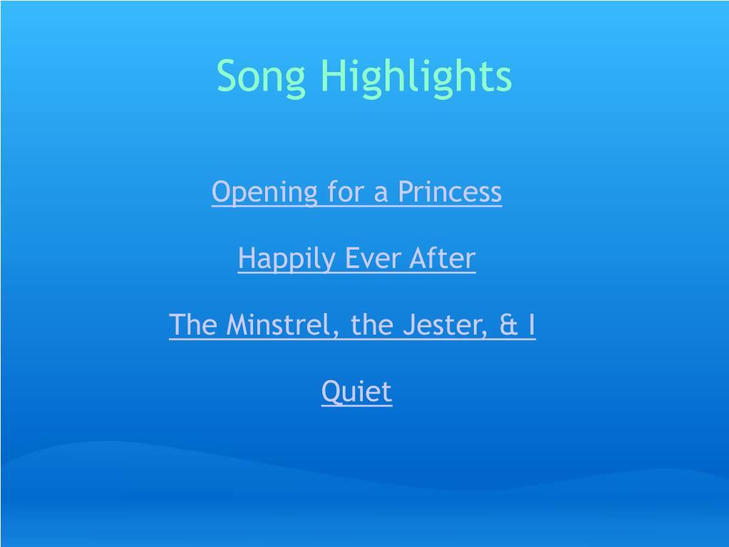 Song Highlights