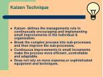 kaizen technique