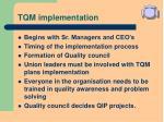 tqm implementation