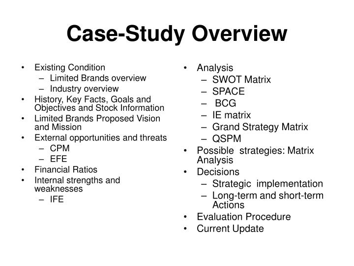 Case study overview