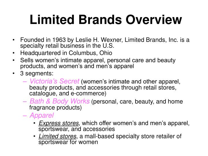 Limited brands overview