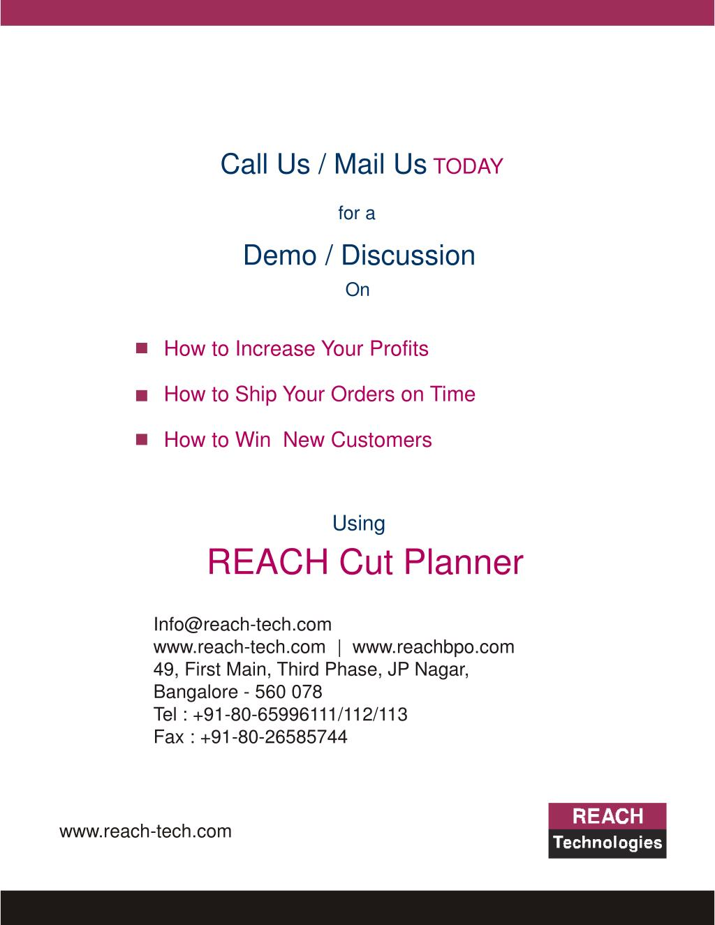Call Us / Mail Us