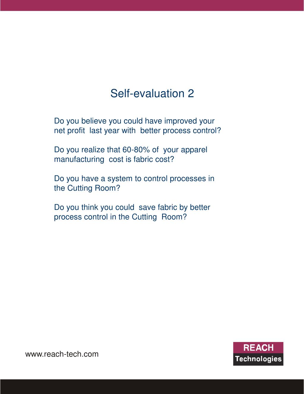 Self-evaluation 2