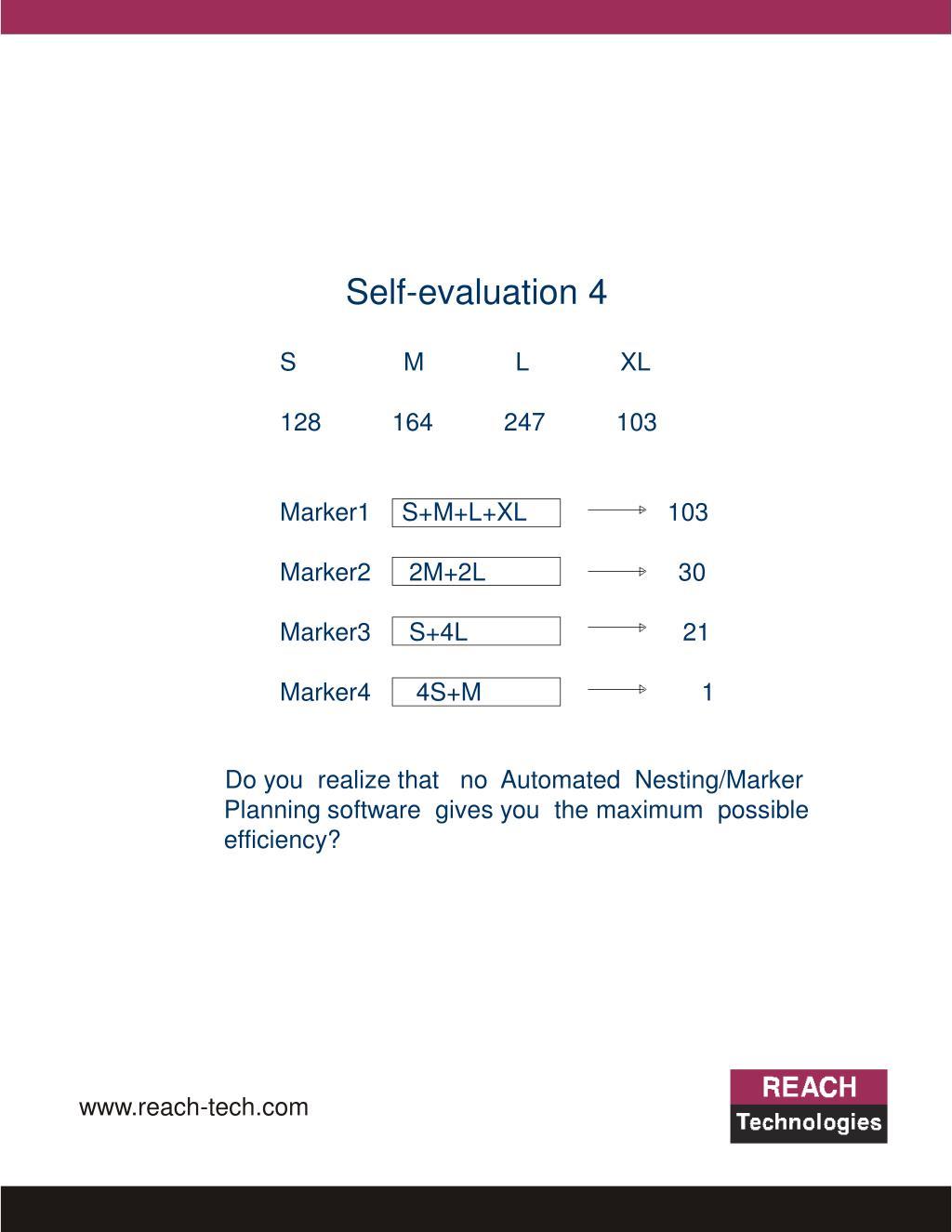 Self-evaluation 4