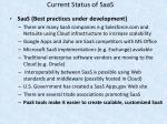 current status of saas