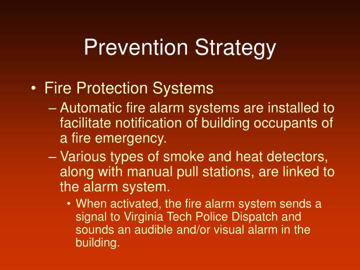 Prevention Strategy