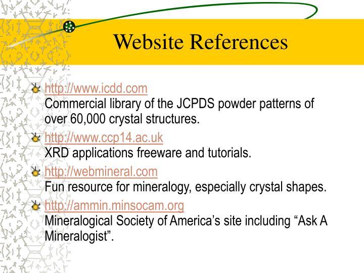 Website References