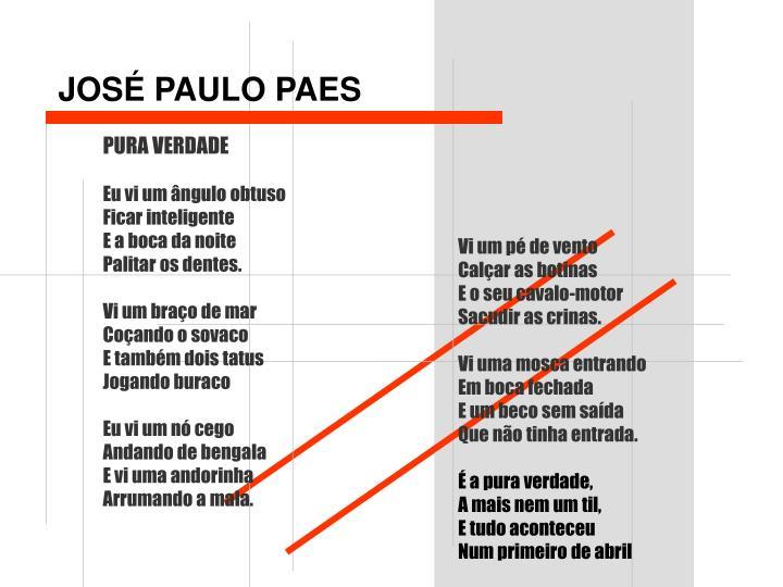 JOSÉ PAULO PAES