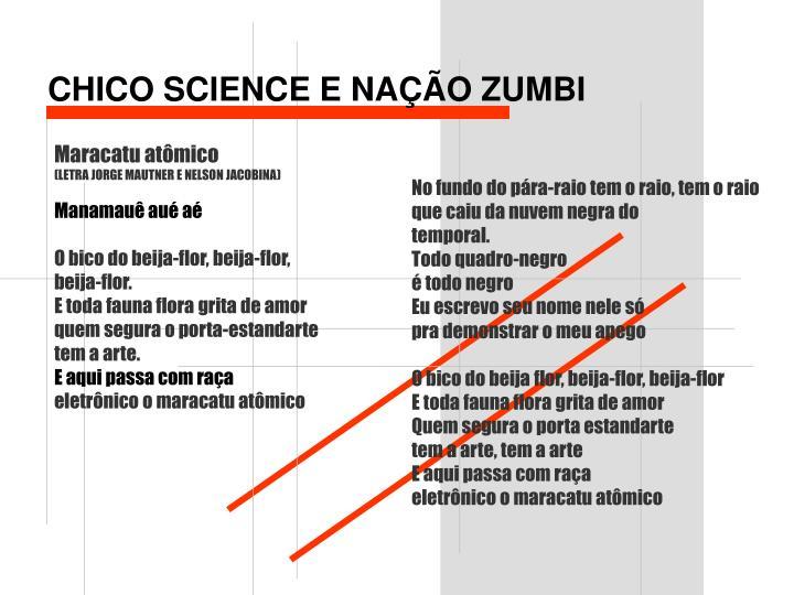 CHICO SCIENCE E NAÇÃO ZUMBI