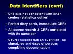 data identifiers cont