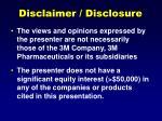disclaimer disclosure