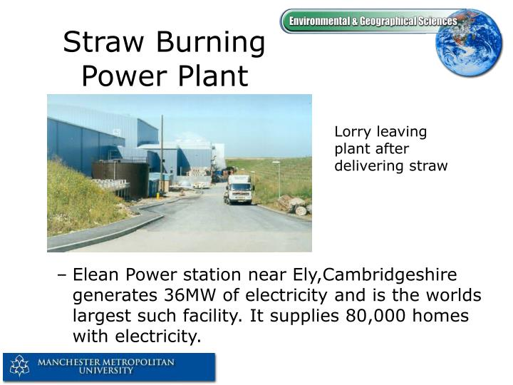 Straw Burning Power Plant