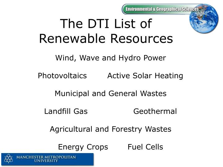 The DTI List of