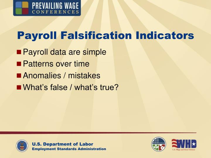 Payroll Falsification Indicators