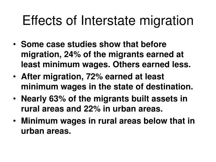 Effects of Interstate migration