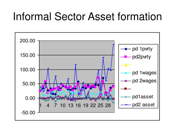 Informal Sector Asset formation