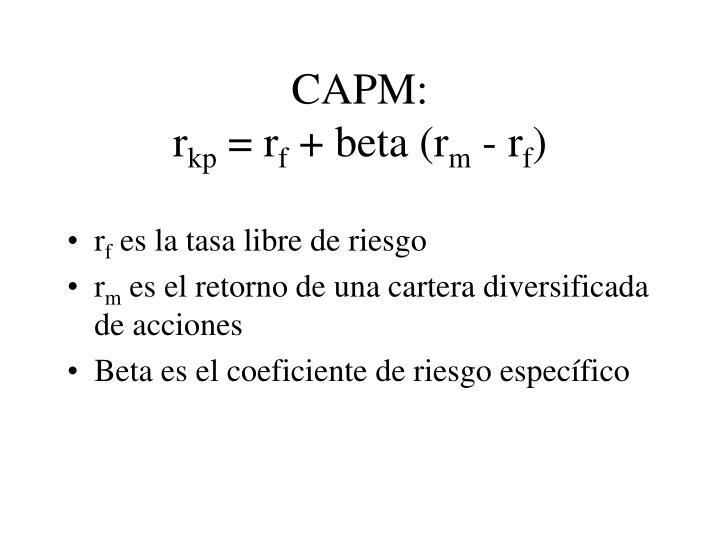 CAPM: